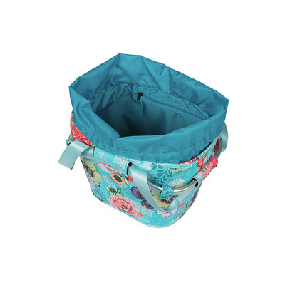 Basil Bloom Field Carry all KF - bicycle basket - front - blue