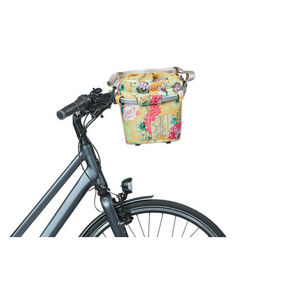 Basil Bloom Field Carry all KF - bicycle basket - front - yellow