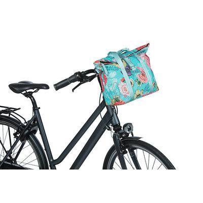 Basil Bloom Field - Fahrradhandtasche MIK - 8-11 Liter - vorne/hinten - blau