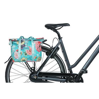 Basil Bloom Field - bicycle handbag MIK - 8-11 liter - front/rear - blue