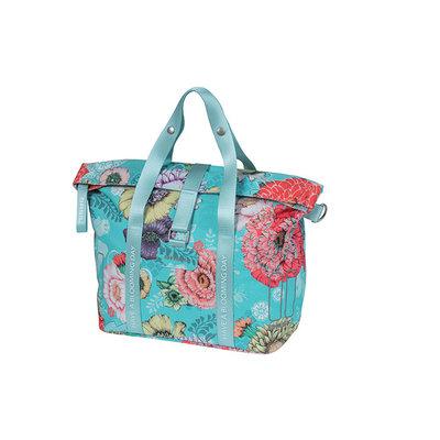 Basil Bloom Field - bicycle handbag - 8-11 liter - front/rear - blue