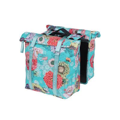 Basil Bloom Field - double pannier bag MIK - 28-35 litres - blue
