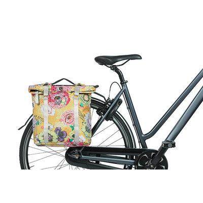 Basil Bloom Field - dubbele fietstas MIK - 28-35 liter - geel