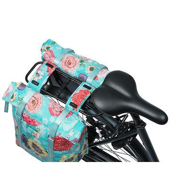 Basil Bloom Field - dubbele fietstas - 28-35 liter - blauw