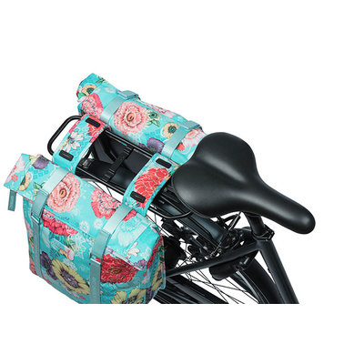 Basil Bloom Field - Fahrrad Doppeltasche - 28-35 Liter- blau