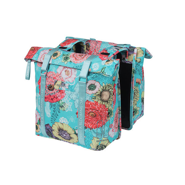 Bloom Field - double pannier bag - blue