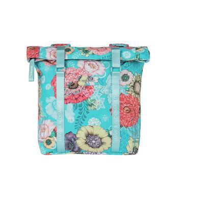 Basil Bloom Field - double pannier bag - 28-35 litres - blue