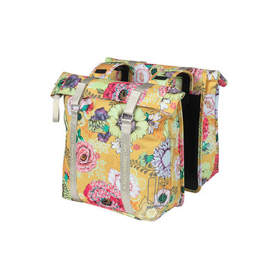 Basil Bloom Field - double pannier bag - 28-35 litres - yellow
