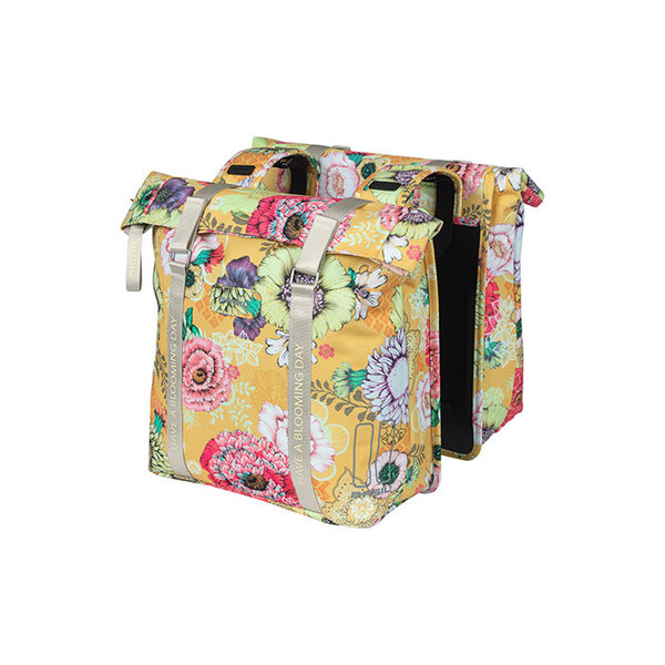 Bloom Field - double pannier bag - yellow