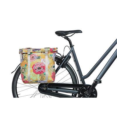 Basil Bloom Field - dubbele fietstas - 28-35 liter - geel
