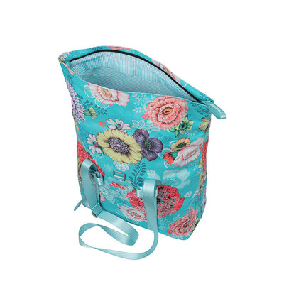 Basil Bloom Field - bicycle shopper - 15-20 litres - blue