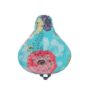 Basil Bloom Field - saddle cover - blue