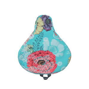 Bloom Field - saddle cover - blue