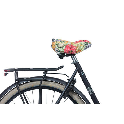 Basil Bloom Field - saddle cover - yellow