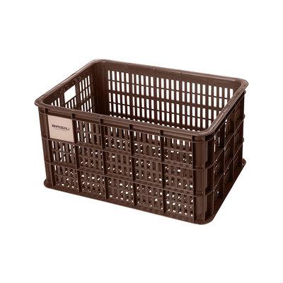Basil Crate L - fietskrat - 40 liter - bruin