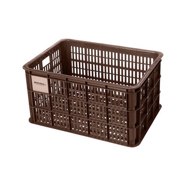Crate L - fietskrat - bruin