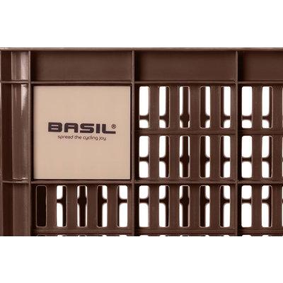 Basil Crate L - bicycle crate - 40 litres - brown