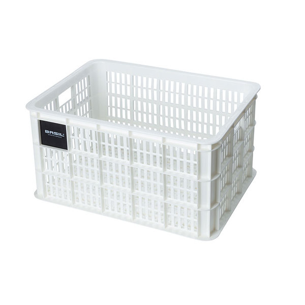 Crate L - bicycle crate - white