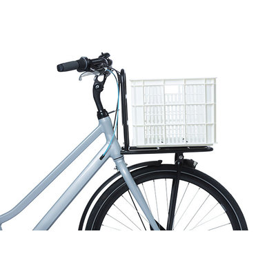 Basil Crate L - bicycle crate - 40 litres - white