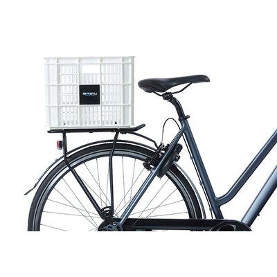 Basil Crate L - fietskrat - 40 liter - wit