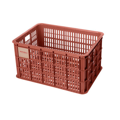 Basil Crate L - bicycle crate - 40 litres - red