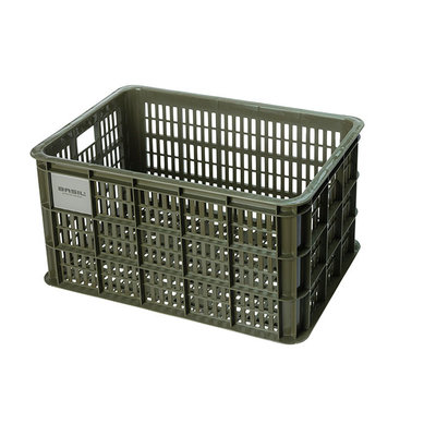 Basil Crate L - fietskrat - 40 liter - groen