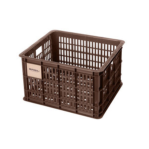 Crate M - bicycle crate - brown