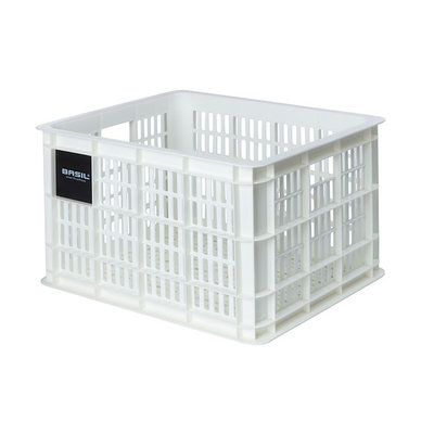 Basil Crate M - bicycle crate - 27 litres - white
