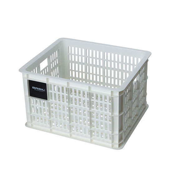 Crate M - bicycle crate - white
