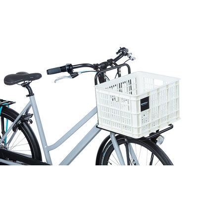 Basil Crate M - Fahrradkiste - 27 Liter - weiss