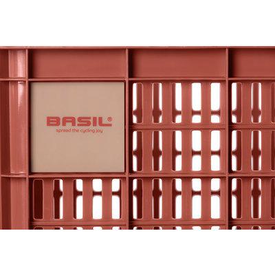 Basil Crate M - fietskrat - 27 liter - rood