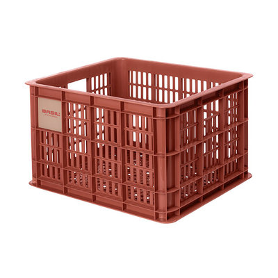 Basil Crate M - bicycle crate - 27 litres - red