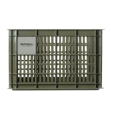 Basil Crate M - bicycle crate - 27 litres - green