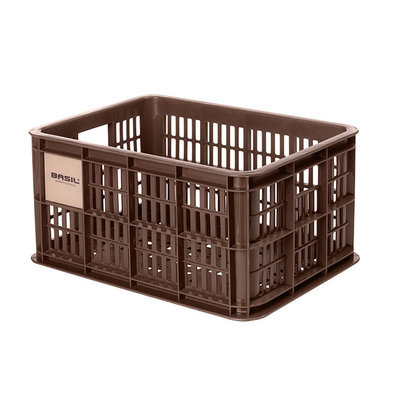 Basil Crate S - fietskrat - 17.5 liter - bruin
