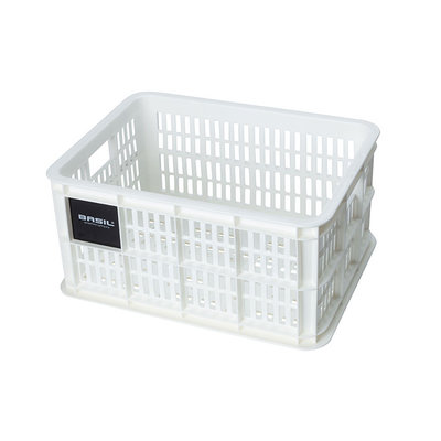 Basil Crate S - bicycle crate - 17.5 litres - white