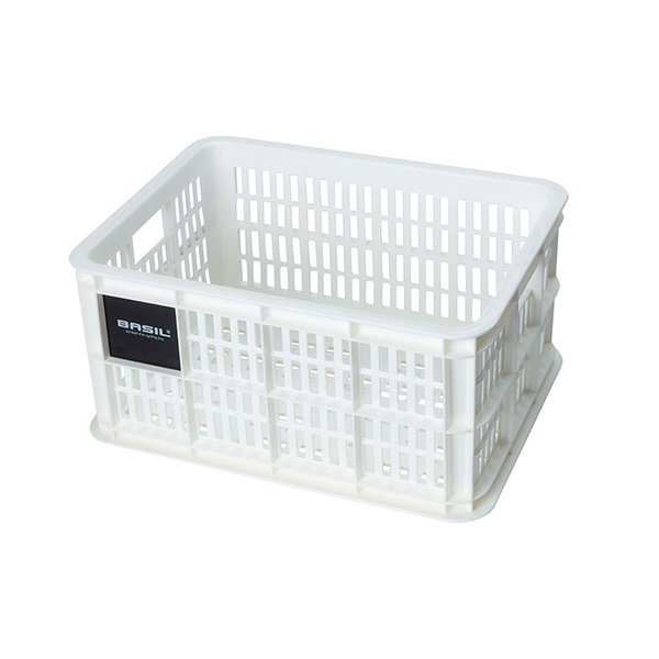Crate S - bicycle crate - white