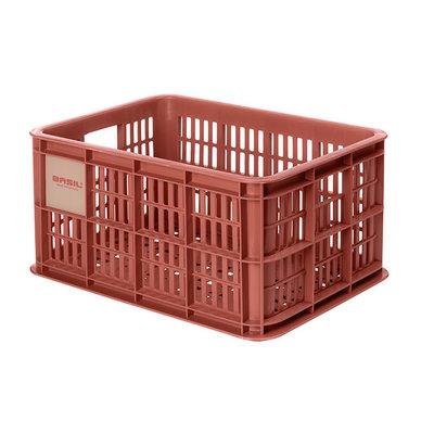 Basil Crate S - fietskrat - 17.5 liter - rood
