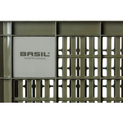 Basil bicycle crate S - small - 17.5 litres - green