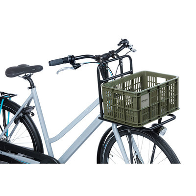 Basil fietskrat S - klein - 17.5 liter - groen