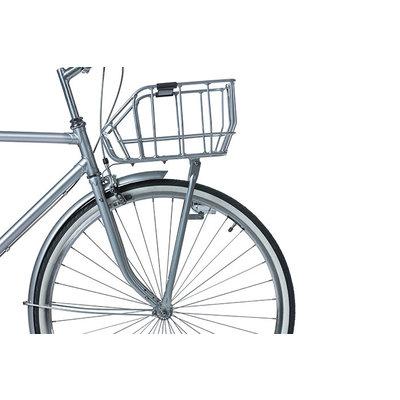 Basil Portland - Fahrradkorb - vorne - chrom