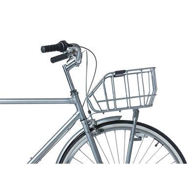 Basil Portland - bicycle basket - front - matt black