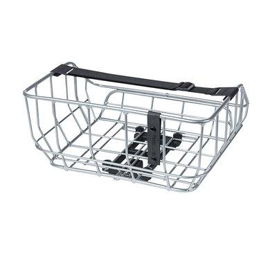 Basil Portland - bicycle basket MIK – rear – chrome