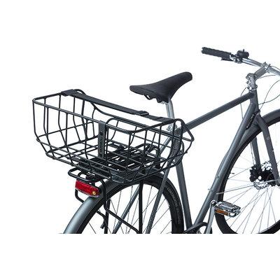 Basil Portland - Fahrradkorb MIK - hinten - mattschwarz