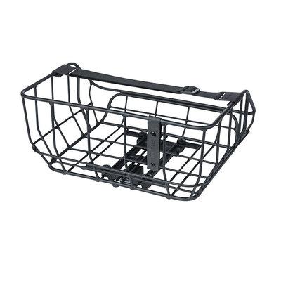 Basil Portland - bicycle basket MIK - rear - matt black