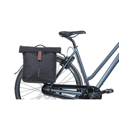 Basil - City - dubbele fietstas MIK - 28-32 liter - zwart