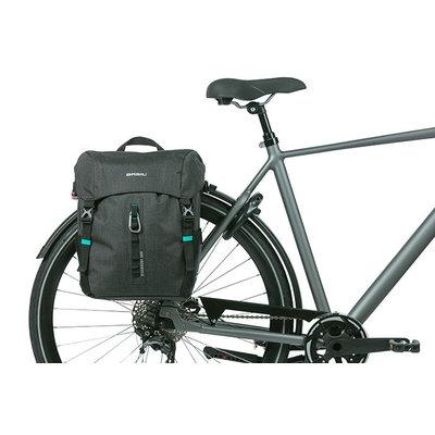 Basil Discovery 365D - enkele fietstas L - 20 liter - zwart