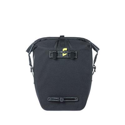 Basil Navigator Waterproof - single pannier bag - 25-31 litres - black