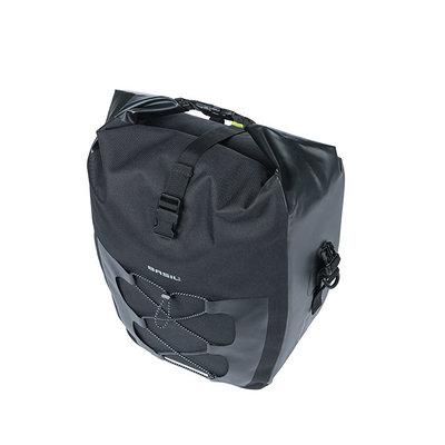 Basil Navigator Waterproof - enkele fietstas -  25-31 liter - zwart