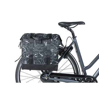 Basil Grand Flower - bicycle shopper - 23 Litres - black