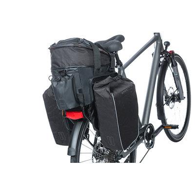 Basil Miles Tarpaulin - bagagedragertas XL Pro - 9-36 liter - zwart